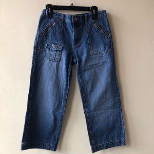 Ny jeans bareback Capri short zippered pockets